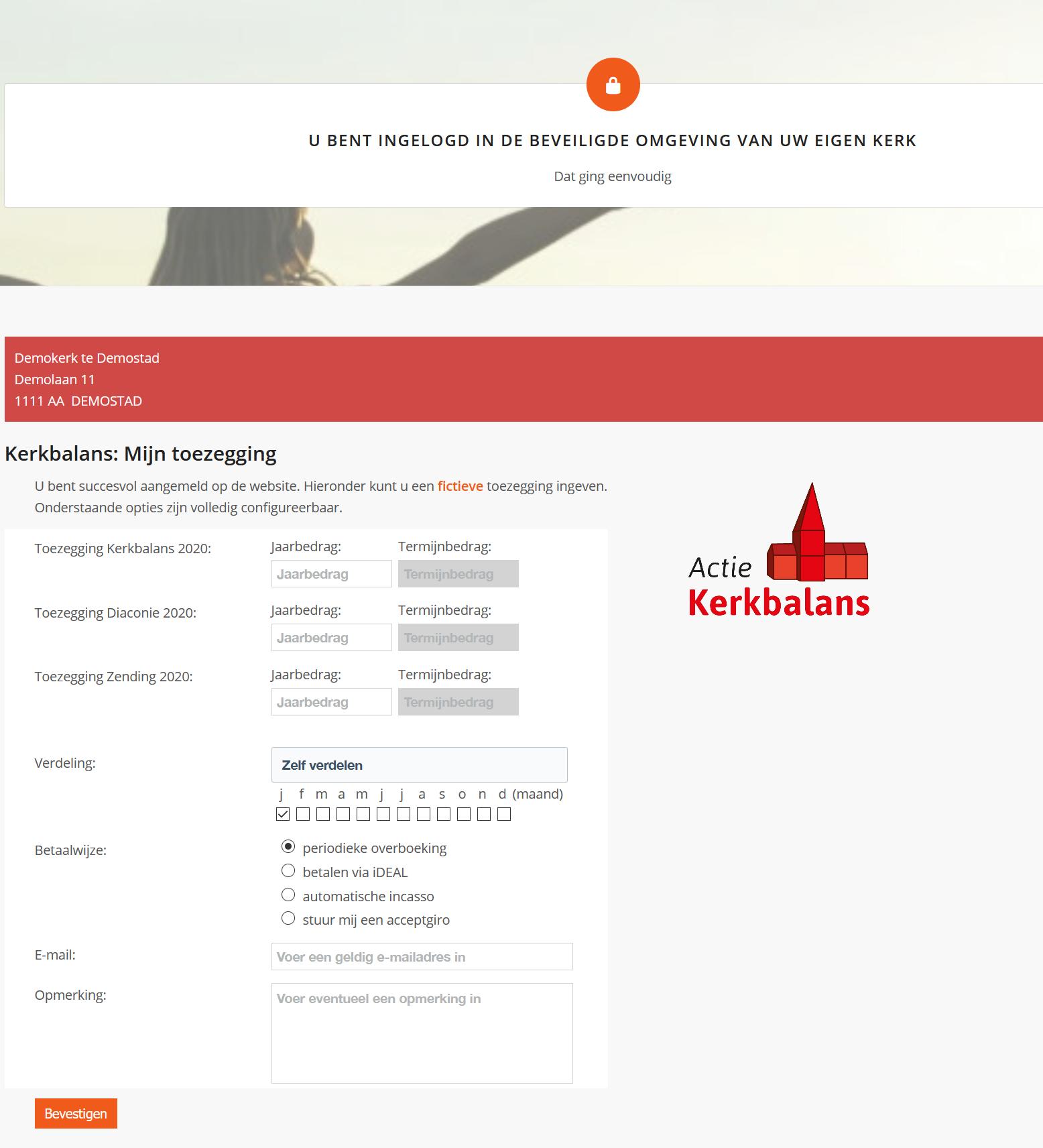 Koppeling website